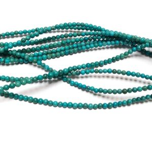 Stabilized Turquoise 2mm Round Beads