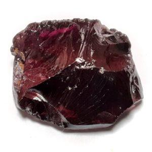 Dark Brazilian Garnet faceting rough #16