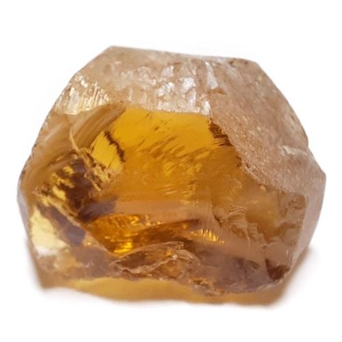 Honey Citrine faceting rough #2