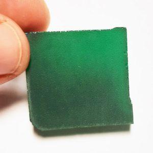 YAG Emerald Green Faceting Rough