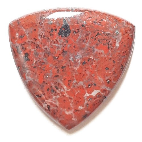 Cab2868 - Red Jasper (Stromatolite) Cabochon