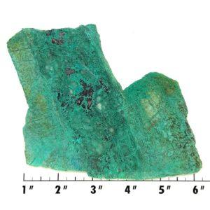 Slab1690 - Malachite in Quartz Slab