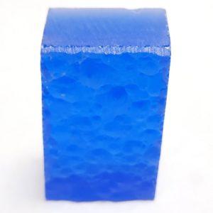 Synthetic Quartz Faceting Rough - Medium Blue