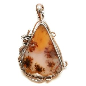 Dendritic Agate in Sterling Silver #604SK